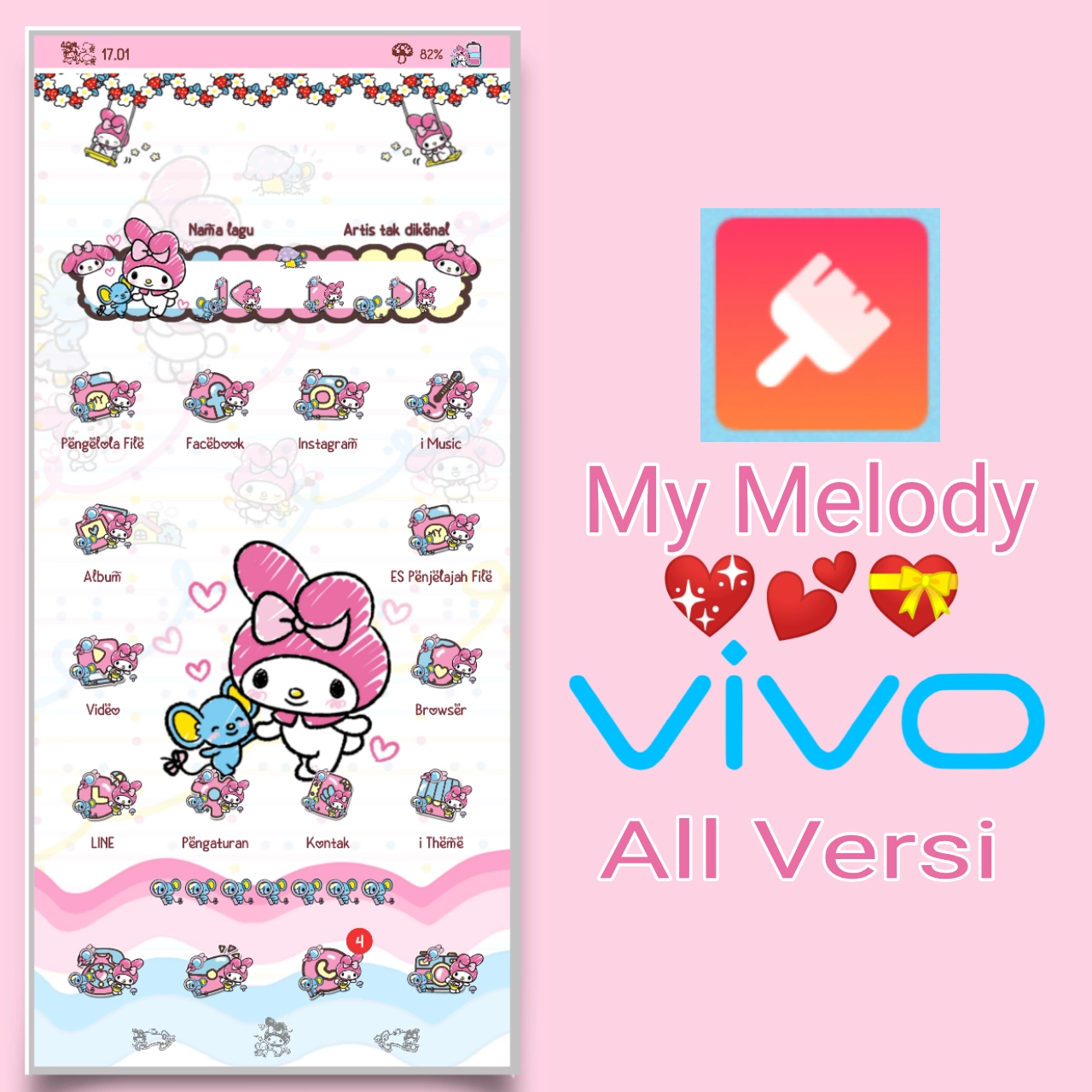 My Melody Love Theme for VIVO All Versi