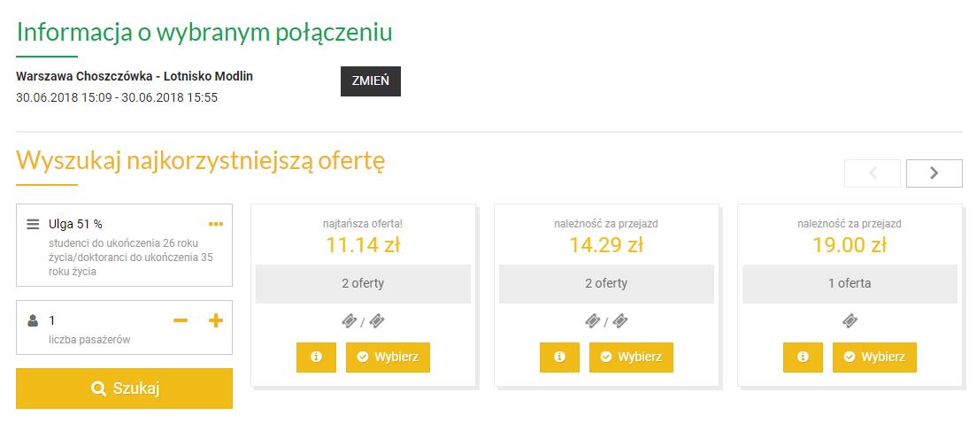dojazd z Warszawy na lotnisko w Modlinie - ceny