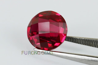 Loose-Synthetic-Ruby-Red-double-turtle-face-cut-Stone-Manufacturers