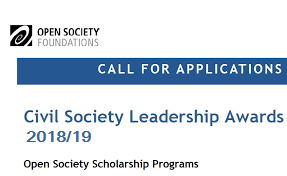 Civil Society Leadership Award (CSLA) Program for Fall 2018/19, Description, Eligibility Criteria, Method of Applying, Application deadline, Master Degree, UK, USA, China, France, India, Netherlands