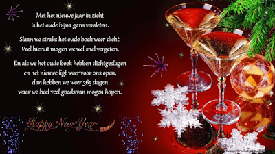 new year celebration with glass of wine