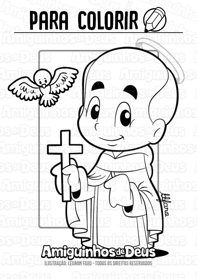 São João José da Cruz desenho para colorir