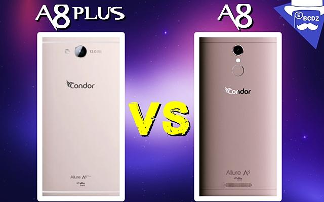 مقارنة بين هاتفي كوندور  A8 و A8Plus - مدونة الأهراس