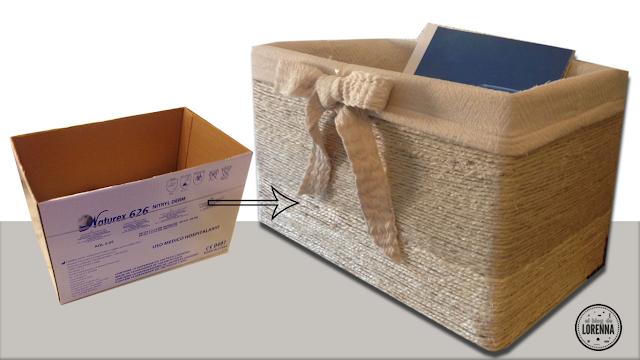 DIY caja de cartón