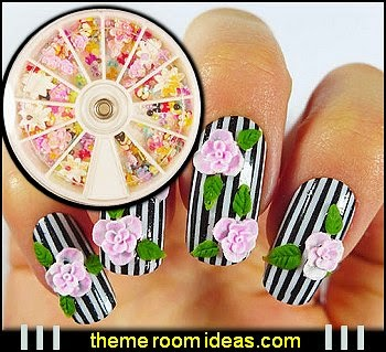 350pcs Box Mixed Shapes Nail Art Pearl Rhinestones 3D Decoration - nail art decoratioms