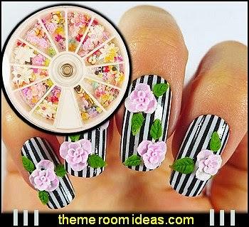 350pcs Box Mixed Shapes Nail Art Pearl Rhinestones 3D Decoration - nail art decoratioms