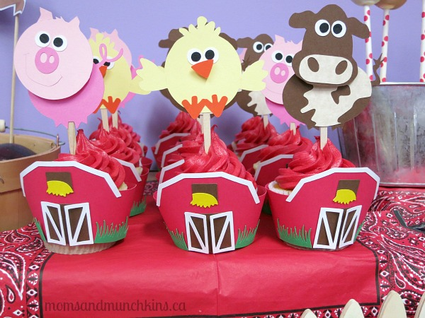 Cakeadoodle Ca Farm Cupcake Toppers And Giveaway