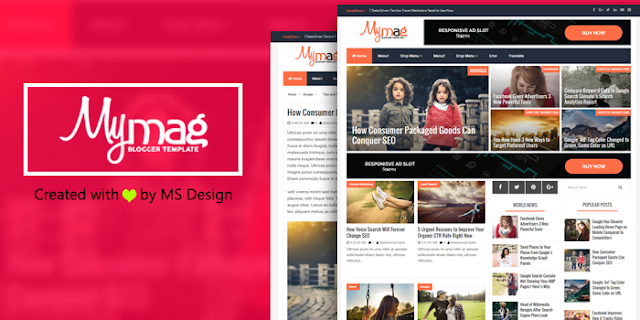 My Mag Magazine Blogger Template