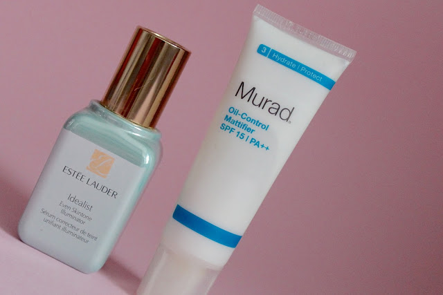 Face Care Combo I Love: Estee Lauder Idealist Even Skintone Illuminator + Murad Oil-Control Mattifier