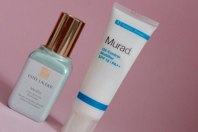 Face Care Combo I Love: Estee Lauder Idealist Even Skintone Illuminator + Murad Oil-Control Mattifier