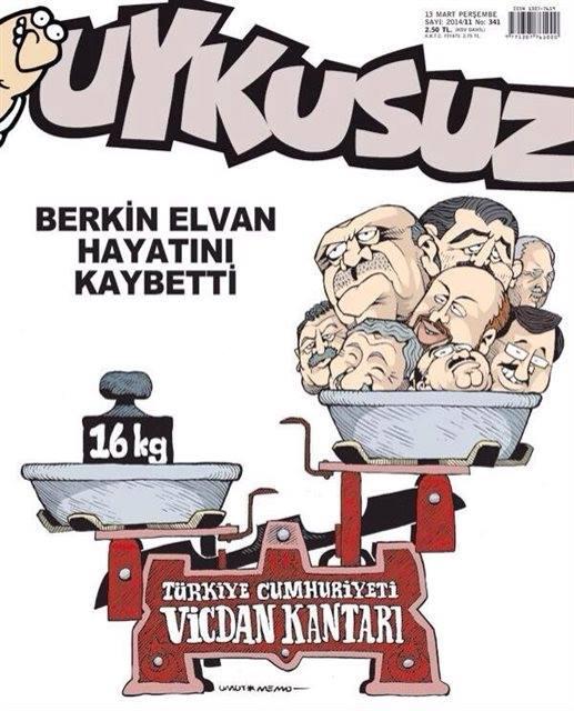 Uykusuz Dergisi - 13 Mart 2014 Kapak Karikatürü