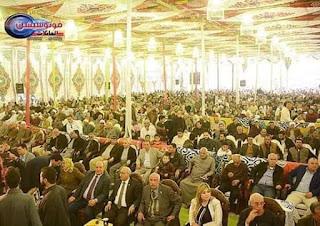 شهدت محافظة الشرقية وبالتحديد مركز الحسينية   اكبر مؤتمر حاشد لمناقشة التعديلات الدستورية  لابن القبيلة الهنادى.