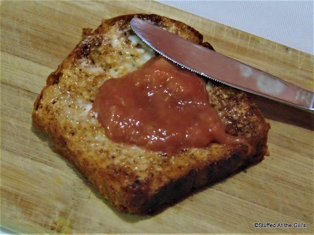 Simple Rhubarb Sauce on toast.