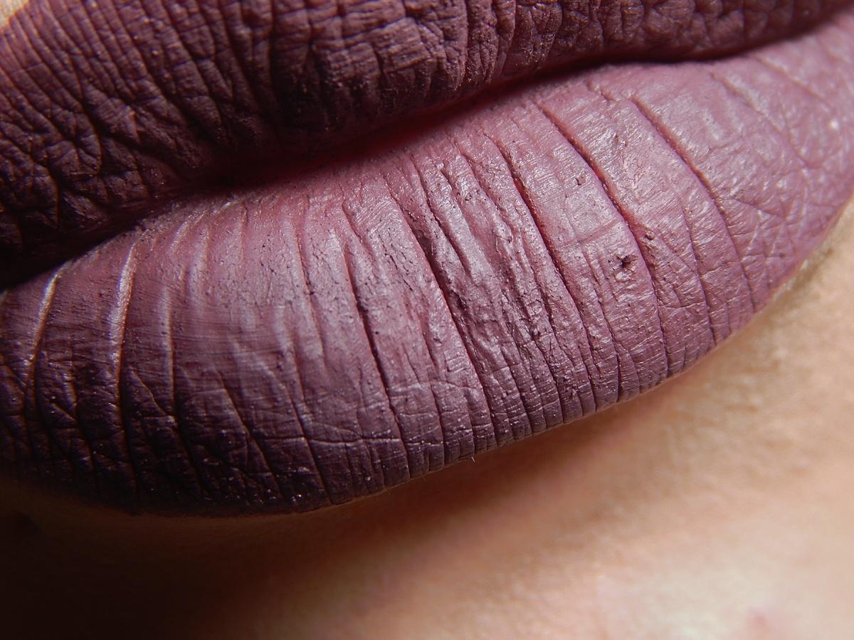 Muitas vezes Le Mener B: Batom do Dia: Uva, líquido matte - Anita HJ61
