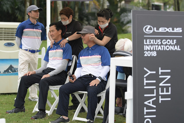 Neck and shoulder massage @ Lexus Golf Invitational 2018