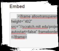 Scratch embeddare sito progetto