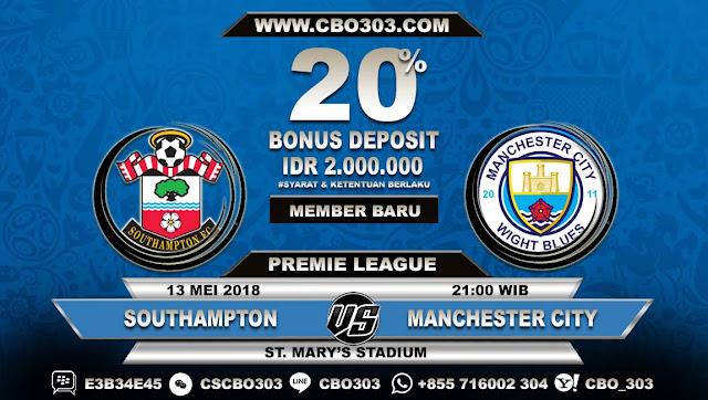 Prediksi Bola Southampton VS Manchester City 13 Mei 2018