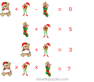 Christmas Fun Mathematics Picture Equations