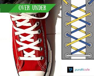 Cara Mengikat Tali Sepatu Over-Under