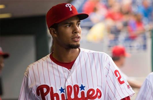 Philadelphia outfielder Aaron Altherr