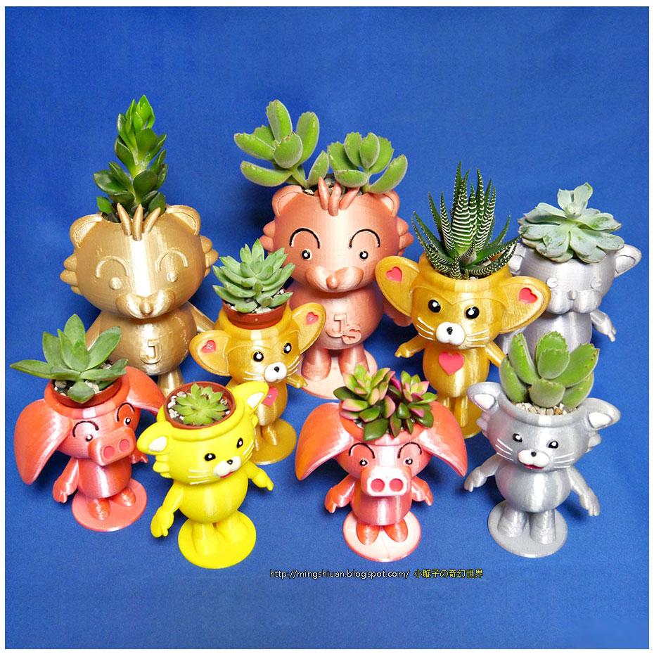 可愛動物 小盆栽