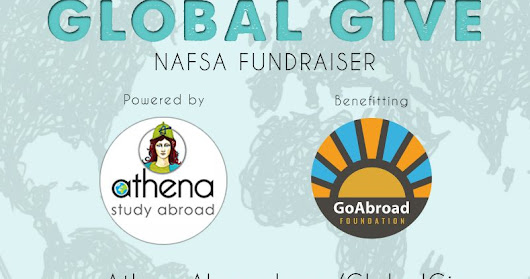 Athena's 3rd Annual Global Give NAFSA Fundraiser in Partnership with the GoAbroad Foundation #AthenaGlobalGive #NAFSA2018