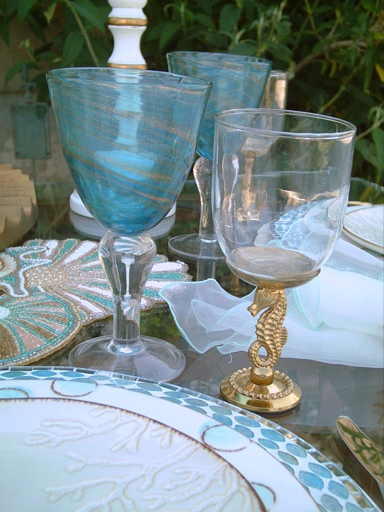 Candlelight Supper Sailing With The Mermaids Tablescape