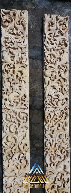 Relief ukiran dari batu alam paras  jogja/batu putih.