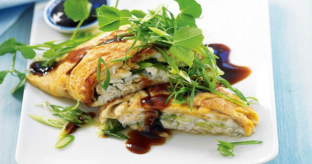 Crab Patola Omelet Recipe