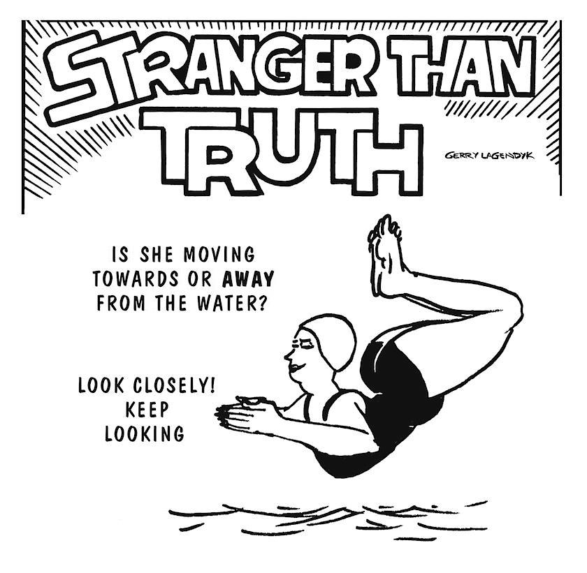Stranger Than Truth, science cartoon, illusion