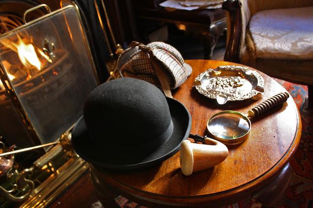 Acervo do Museu Sherlock Holmes em Londres