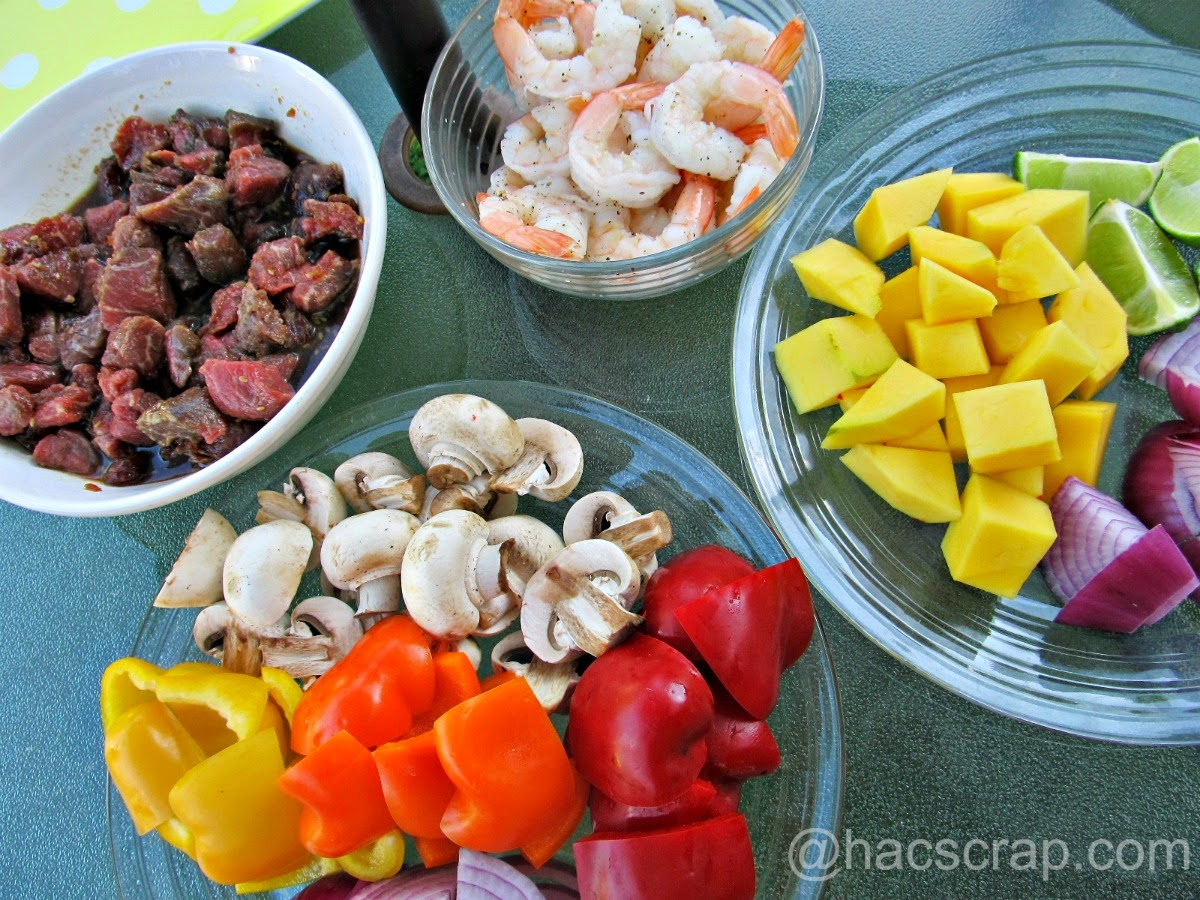 My Scraps | Kabob Assembly of Ingredients