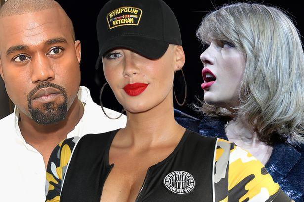 Amber Rose defiende a Kanye West en su pelea con Taylor Swift.