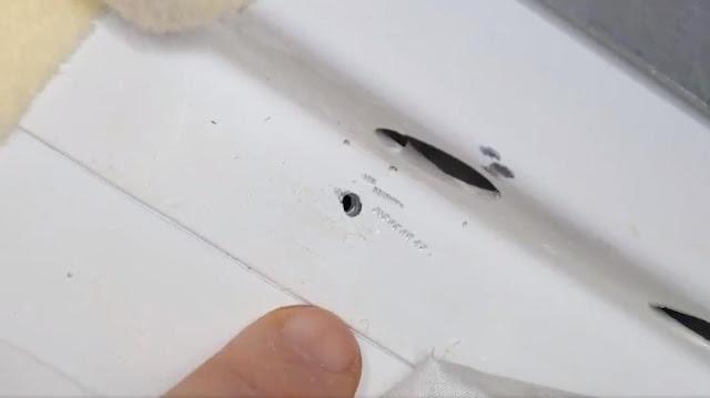 buraco na cápsula Soyuz na Estação Espacial Internacional