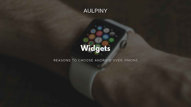 Widgets in smartwatch