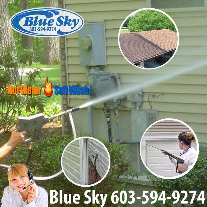 New Hampshire Soft Wash House Washing with Blue Sky