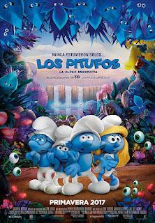 Cartel oficial español: Los pitufos: La aldea escondida (2017)