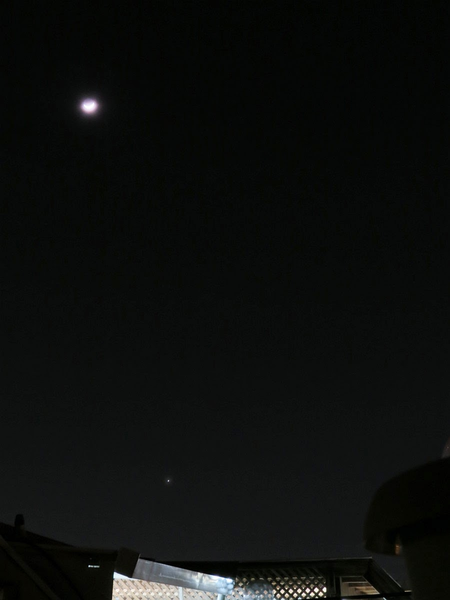 Venus and the moon 22/2/15