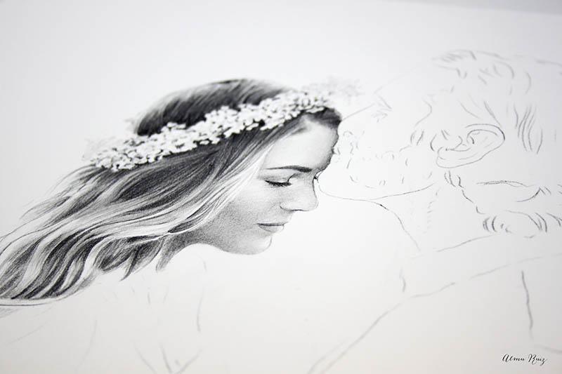 Dibujar un retrato femenino