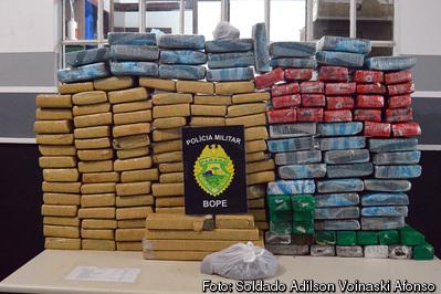 Mais de 150 quilos de maconha são apreendidos e cinco suspeitos presos em Curitiba e RMC