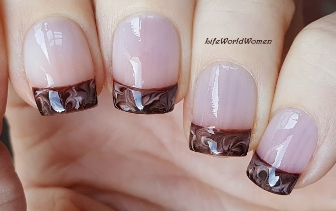 Life World Women Chocolate French Manicure