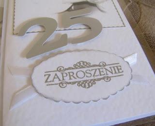 Craftcownia Zaproszenia Na 25 Rocznicę ślubu