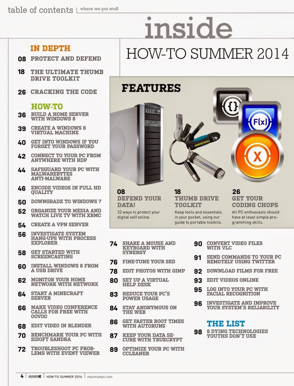Maximum PC Specials – PC How-To Guide Summer 2014 PDF Version