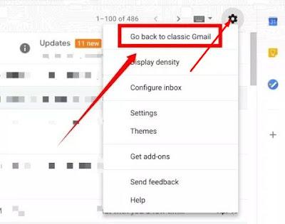 Anda juga alasannya yakni banyak lho yang lebih suka tampilan klasik Cara Mengembalikan Tampilan Gmail ke Versi Lama (Classic)