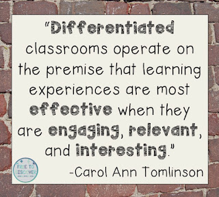 Differentiated classrooms operate on the premise that learning experiences are most effective when they are engaging, relevant, and interesting.