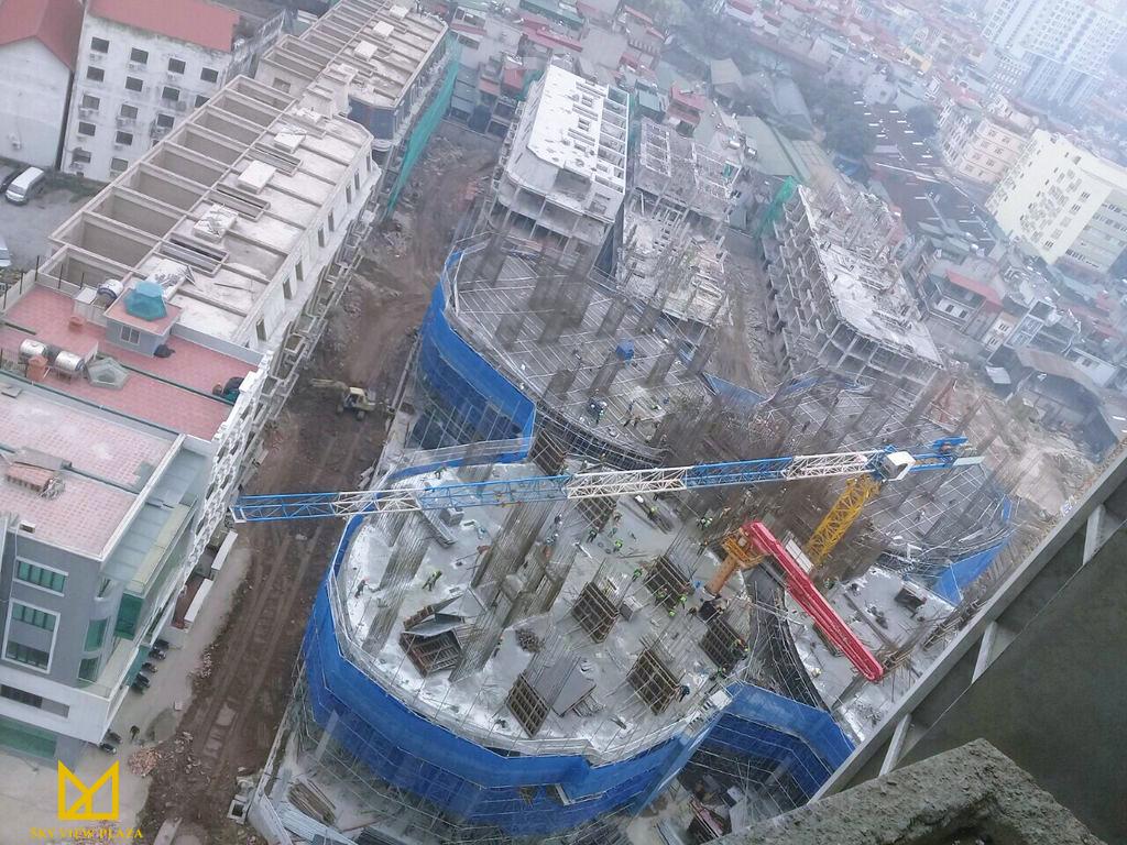 Tiến độ thi công dự án Sky View Plaza 360 Giải Phóng
