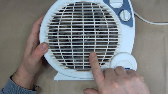 тепловентилятор в пыли
