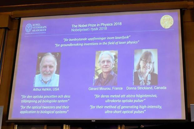 Penelitian Arthur Ashkin, Gerard Mourou and Donna Strickland Share 2018 Nobel Prize in Physics