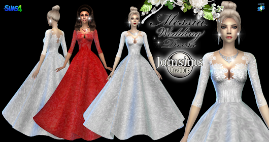 Messia wedding dress click image to download women's clothign area on http://www.jomsimscreations.fr WEBSITE