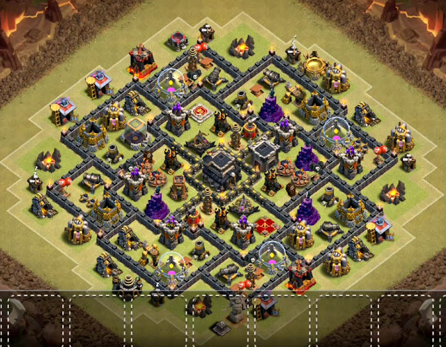 coc th9 base in the world